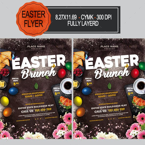 Easter Brunch Flyer