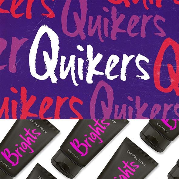 Quikers - Brush Font