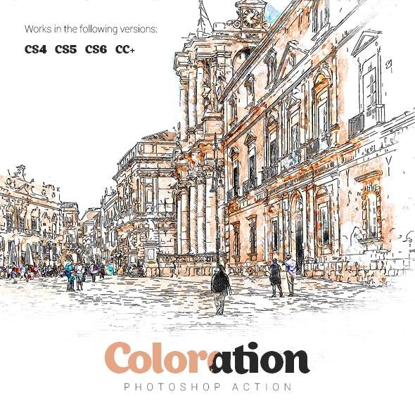 Coloration Photoshop Action