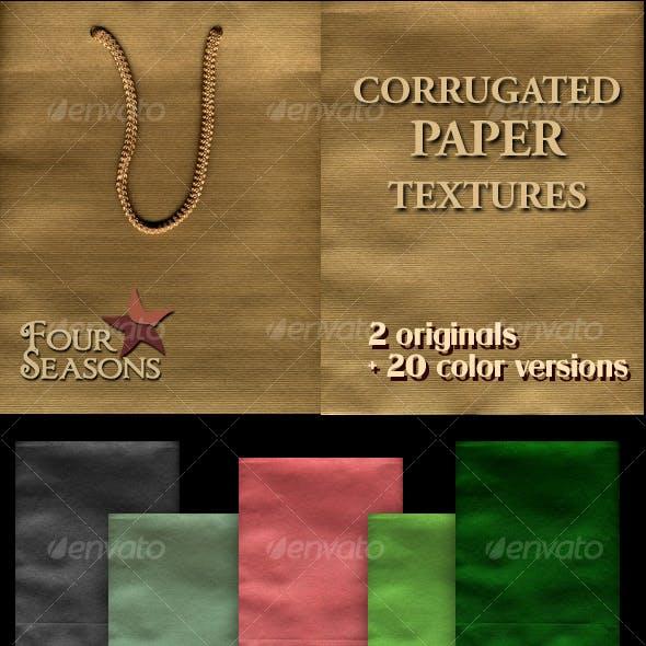 Corrugated paper textures