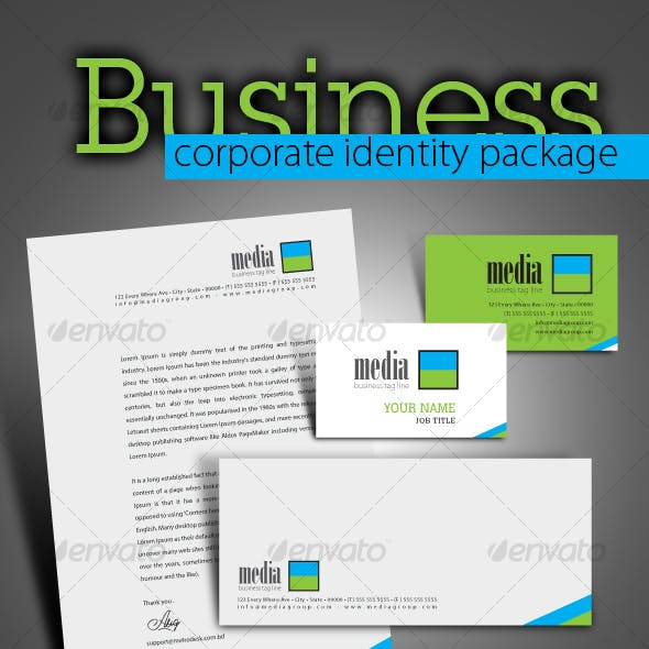 High quality print ready corporate identity 7 pack