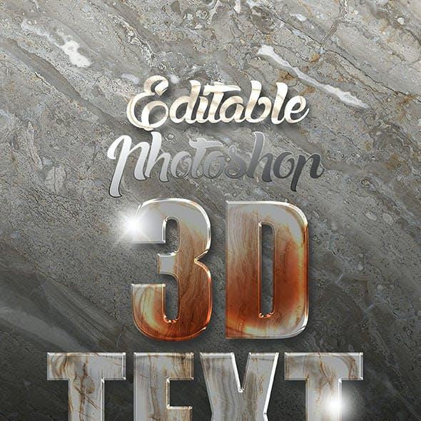 3D Text Effect MockUp A