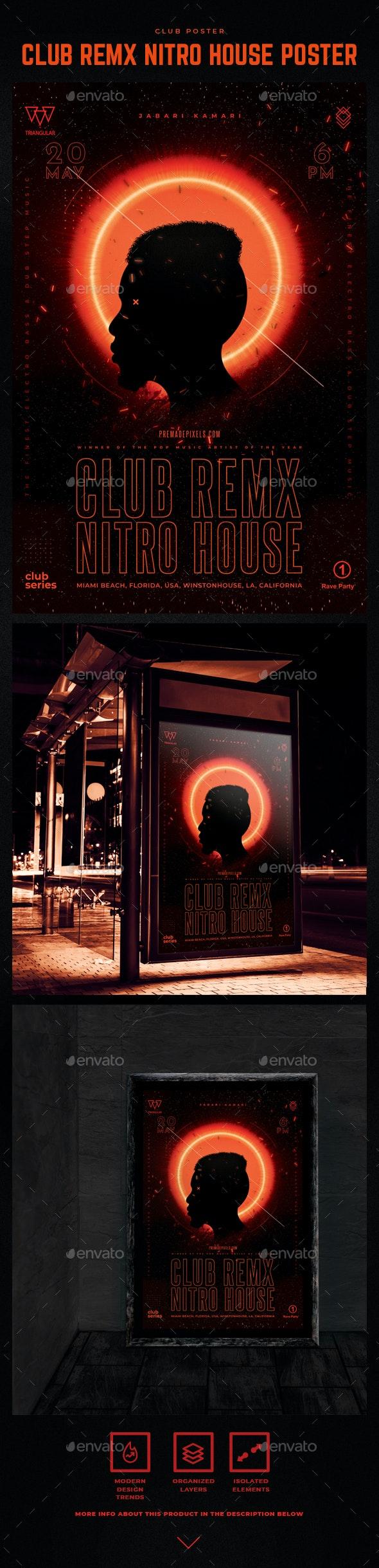 Club Nitro REMX Poster - Miscellaneous Print Templates