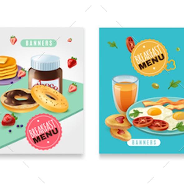 Breakfast Menu  Poster Set