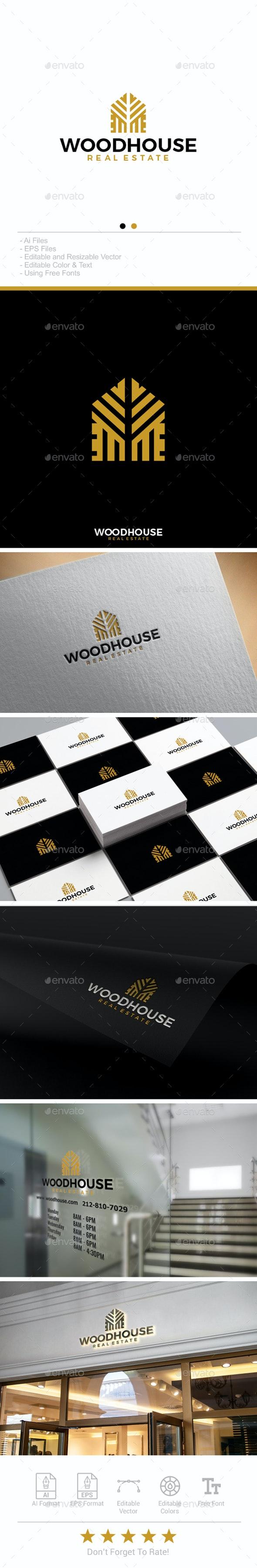Woodhouse Real Estate Logo - Buildings Logo Templates