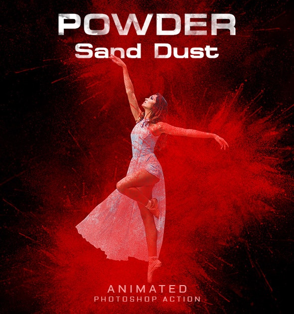 Powder Sand Dust Animated PS Action - Actions Photoshop