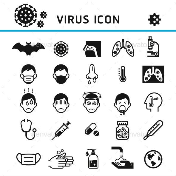 Virus Infection Icons Set