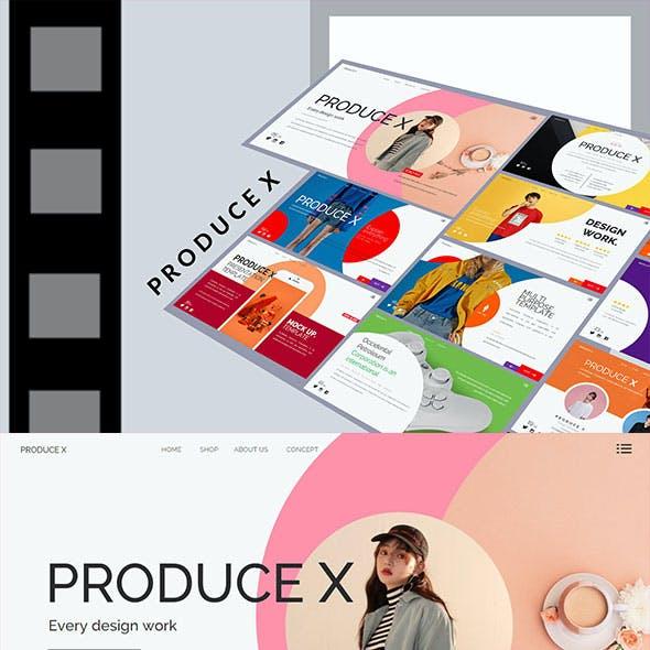Produce X - Stylish Fashion Powerpoint Template