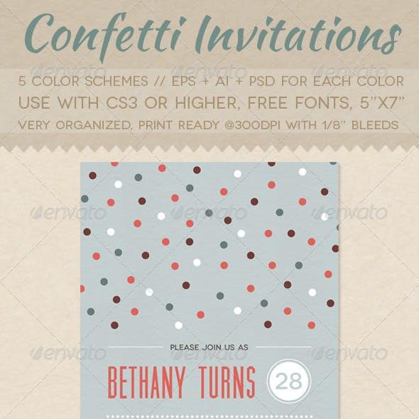 Confetti Invitations