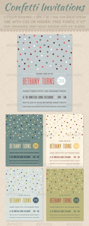Confetti Invitations - Invitations Cards & Invites