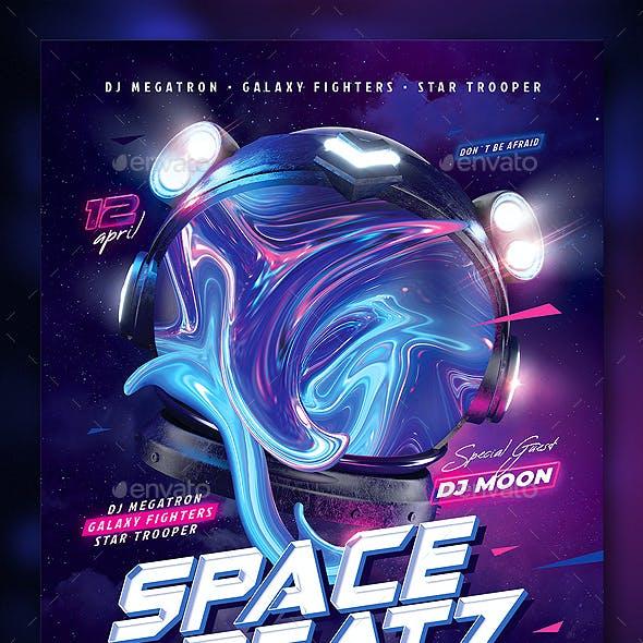 Party Flyer Space Beatz