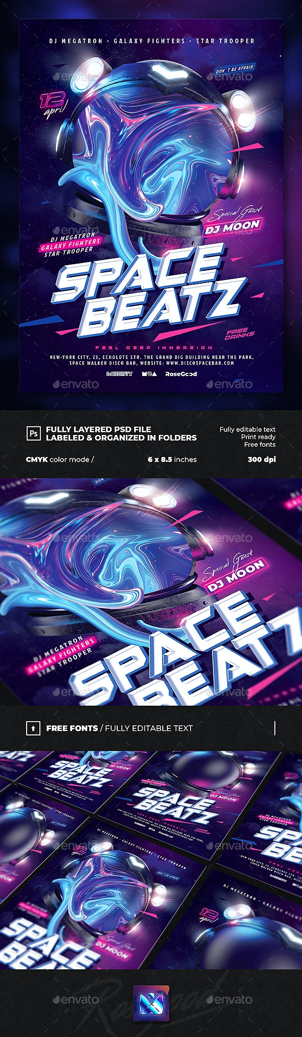 Party Flyer Space Beatz - Clubs & Parties Events