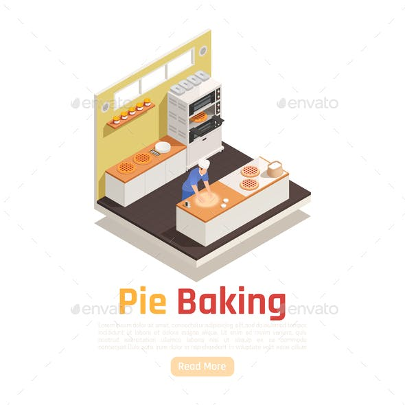 Bakery Isometric Composition