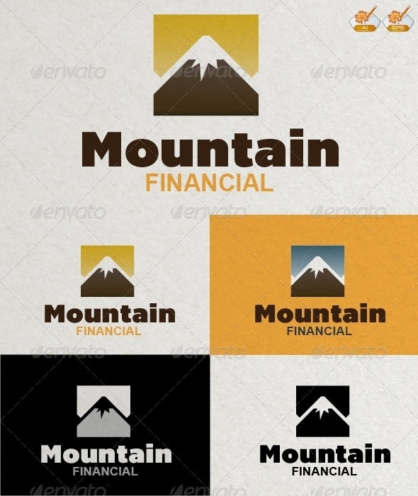 Mountain Financial Logo Template - Nature Logo Templates