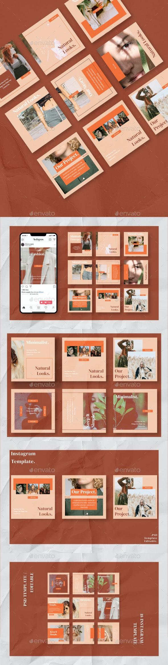 Dixon Social Media Template - Social Media Web Elements