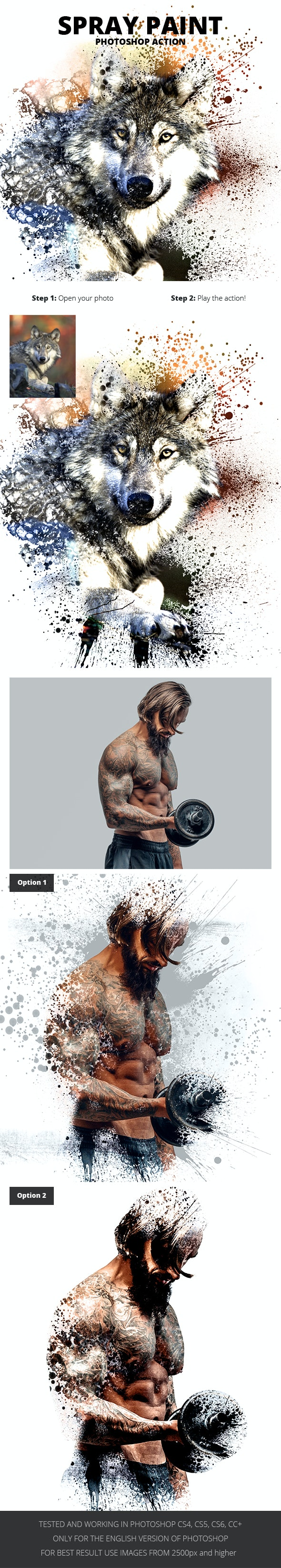 Spray Paint Photoshop Action - Photo Effects Actions