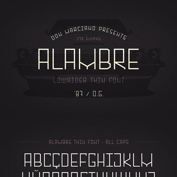 Alambre Lowrider Font