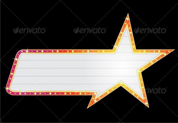 Star shape neon - Decorative Symbols Decorative
