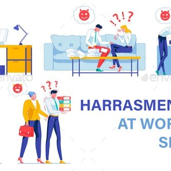 Harassment at Work. Five Typical Situations Set