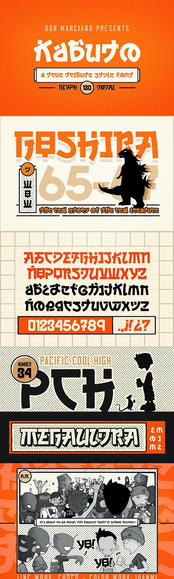 Kabuto Tribute Font - Foreign Script
