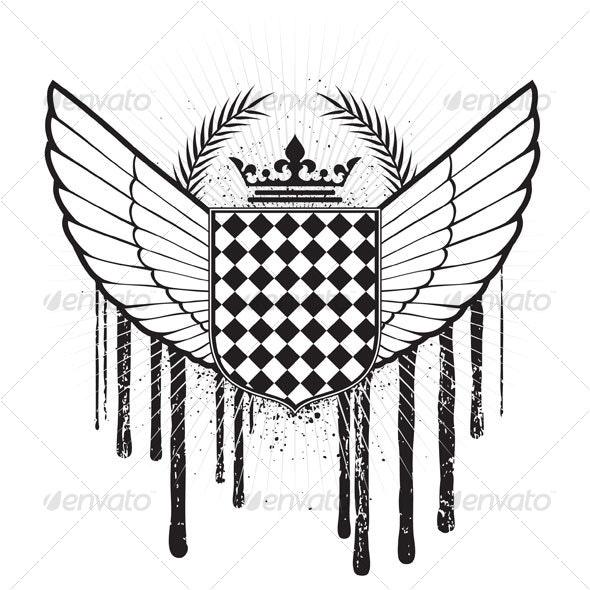 Heraldic Crest - Decorative Symbols Decorative