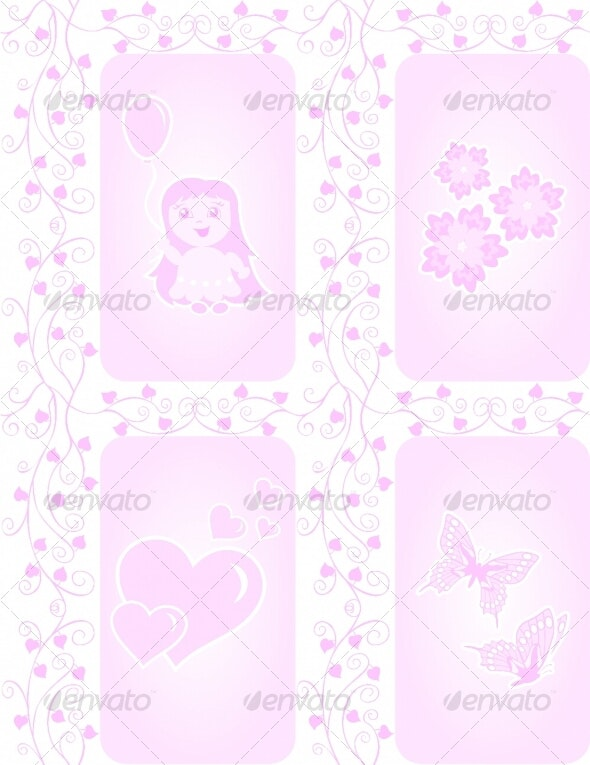 Texture for girls - Decorative Symbols Decorative