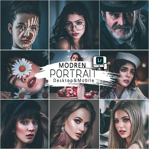Modern Portrait Presets  Mobile and Desktop Lightroom