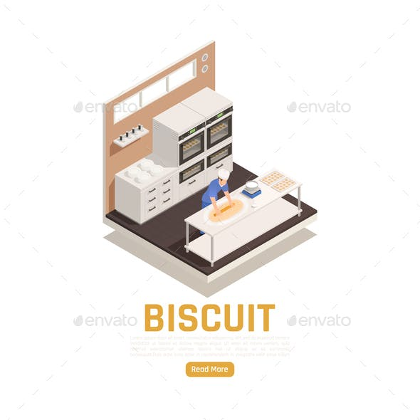 Bakery Confectionery Isometric Composition