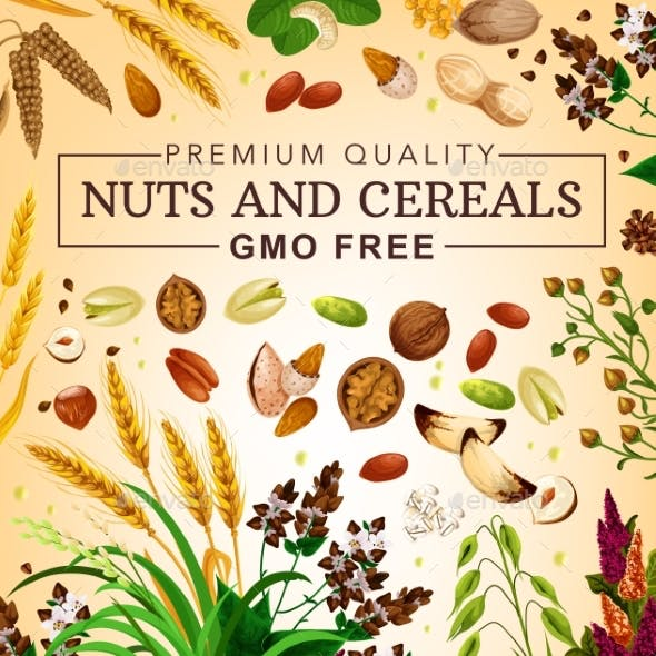 Gmo Free Cereal Grains and Nuts