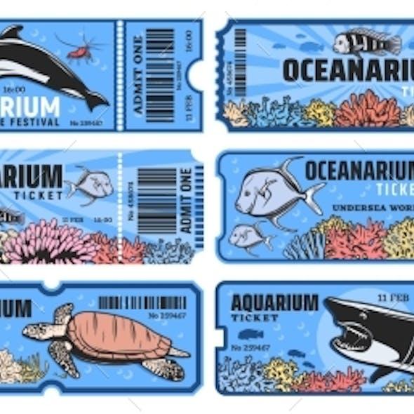 Oceanarium Park Vector Tickets, Aquarium Zoo