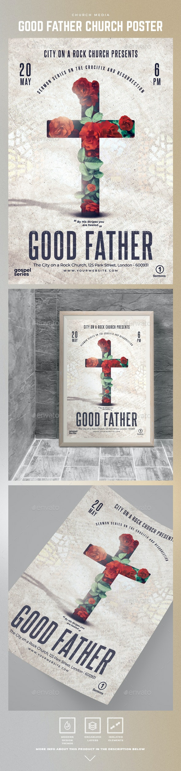 Good Father Church Poster Template - Church Flyers