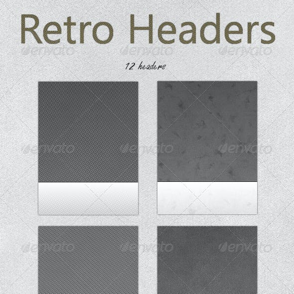 Tileable Retro Web Headers