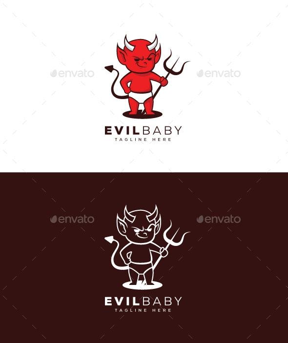 Evil Baby Logo - Humans Logo Templates