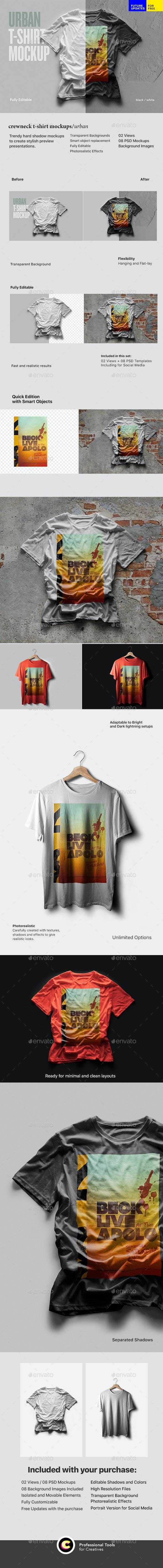 Urban T Shirt Mockup - T-shirts Apparel