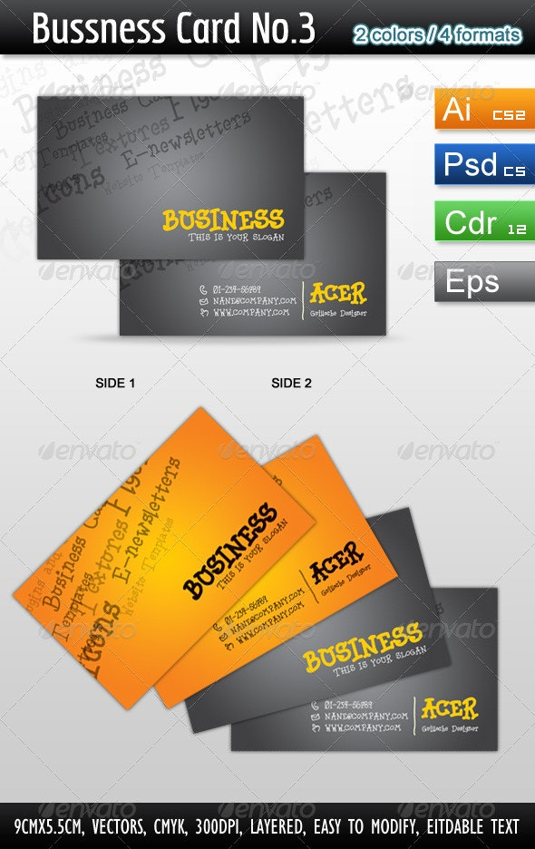 Bussness Card No.3 - Corporate Business Cards
