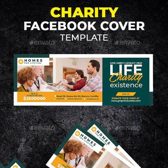 Charity Facebook Cover Template