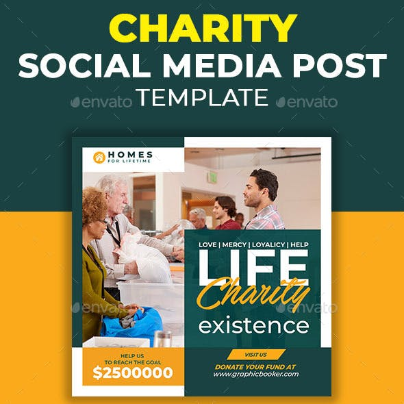 Charity Social Media Post Template