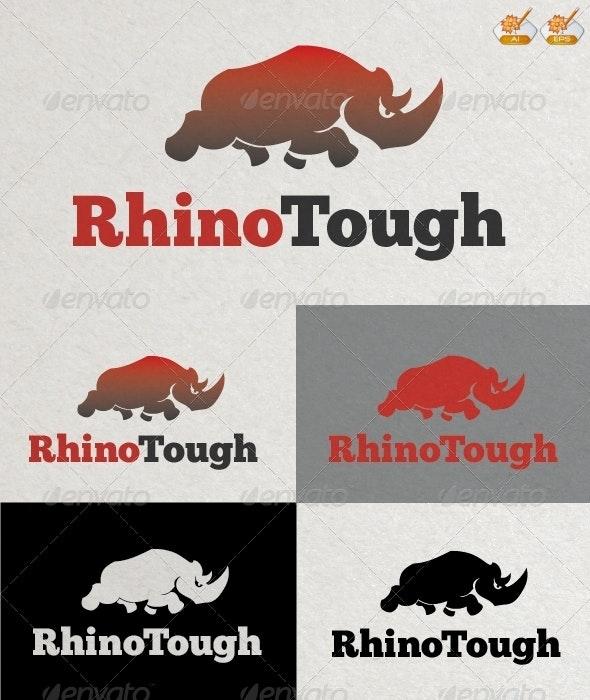 Rhino Tough Logo Template - Animals Logo Templates