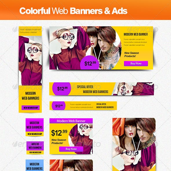 Colorful Banner & Ads