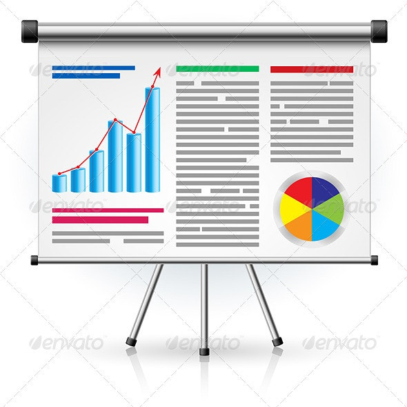 The Screen with the Business Schedule - Man-made Objects Objects