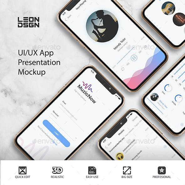 UI/UX App Presentation Mockup - Phone 11