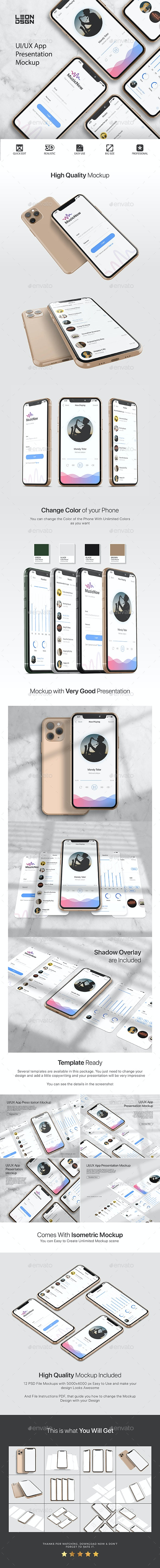 UI/UX App Presentation Mockup - Phone 11 - Mobile Displays