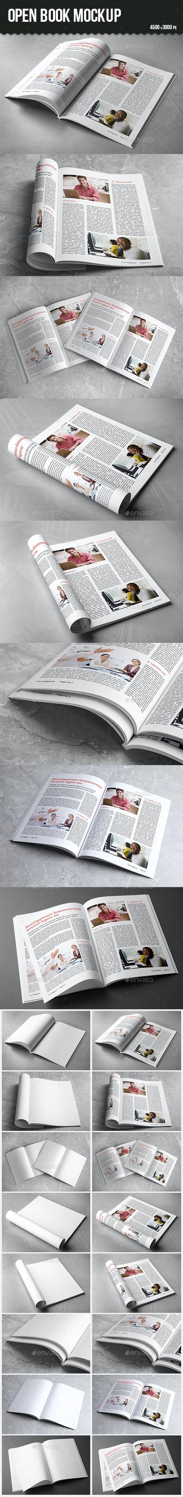 Open Book Mockup - Books Print