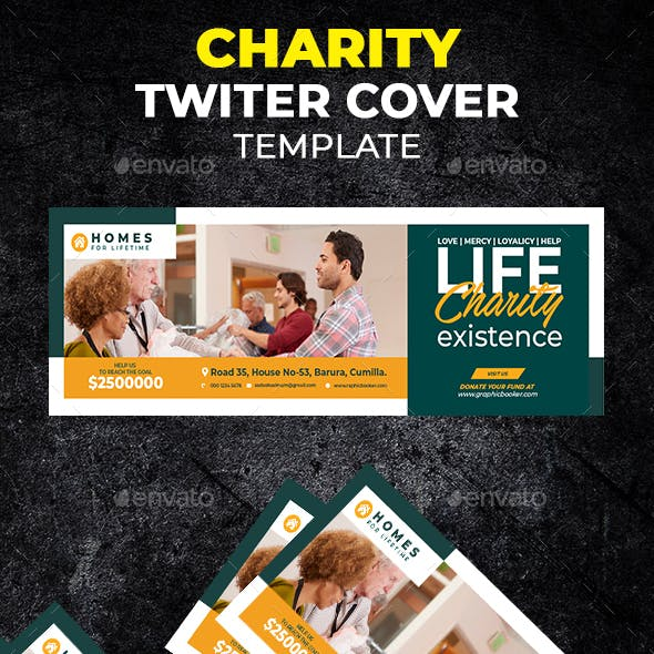Charity Twitter Header Cover Template