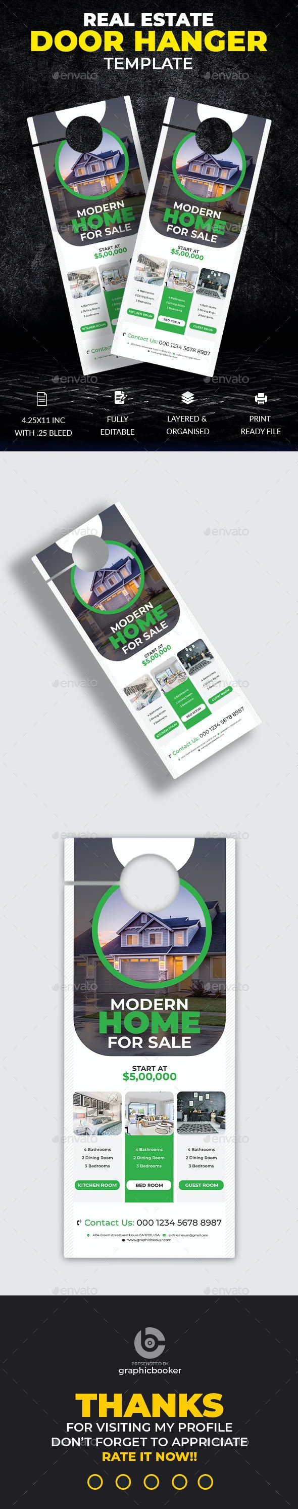 Real Estate Door Hanger Template - Miscellaneous Print Templates