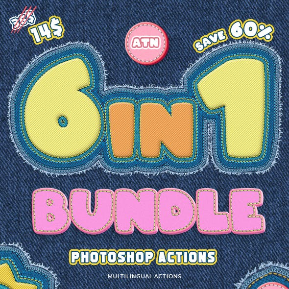 Stitch & Embroidery Actions Bundle
