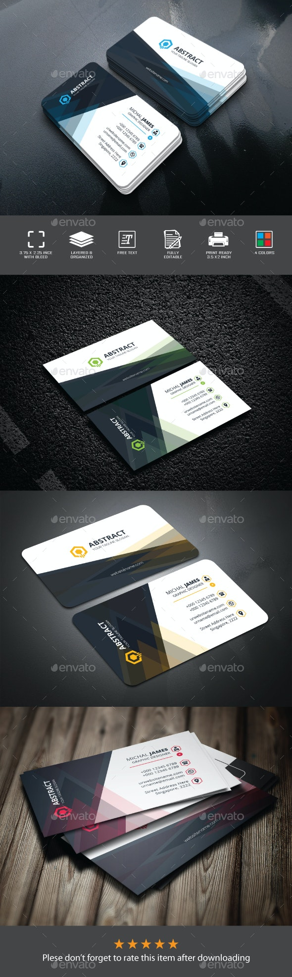 Abstact Business Card - Corporate Business Cards