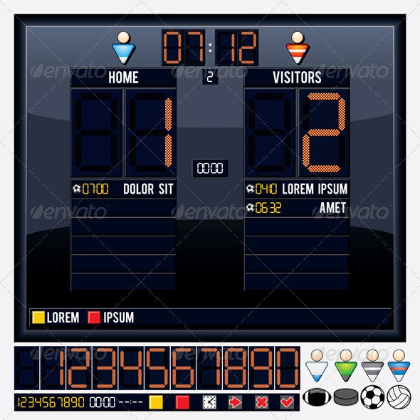 Universal Vector Scoreboard - Sports/Activity Conceptual