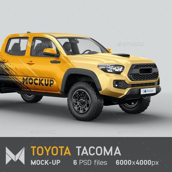 Toyota Tacoma Pickup Mockup