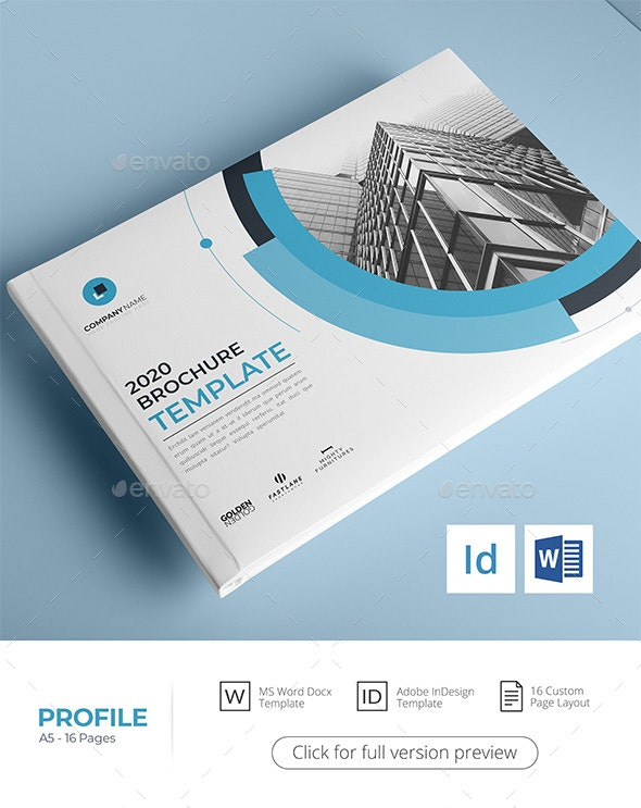 A5 Company Profile, Word Template - Corporate Brochures